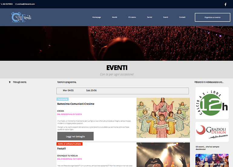 realizzazione sito internet 24eventi