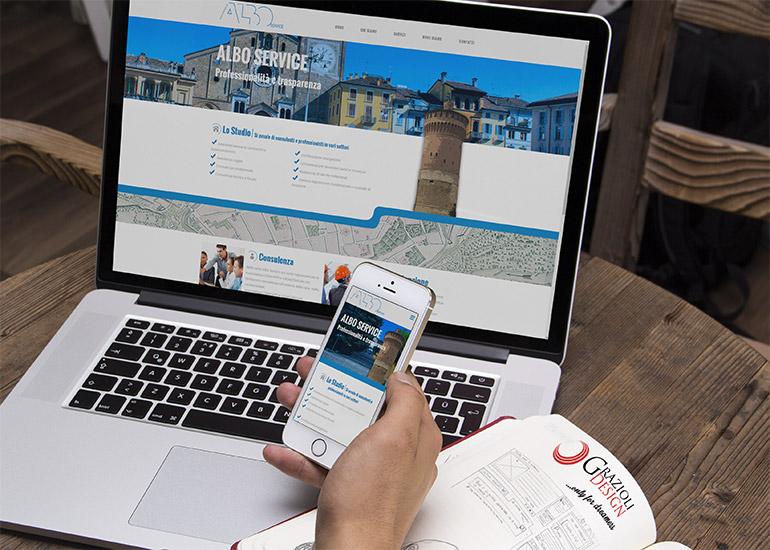 Immagine sito web azienda Albo Service