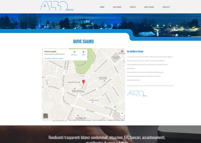Sito web Albo Service realizzato da Grazioli Design