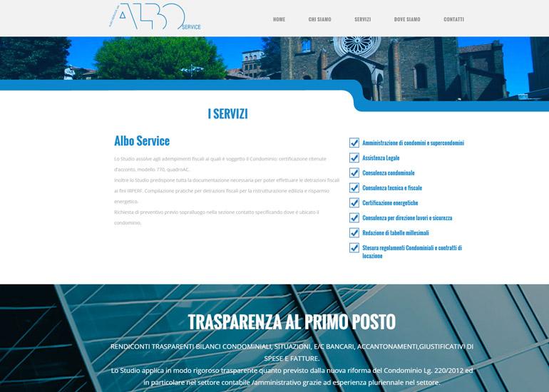 Creazione sito internet azienda Albo Service