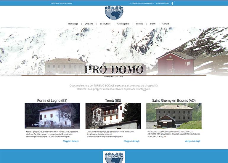 Pagina le strutture sito web Prodomo