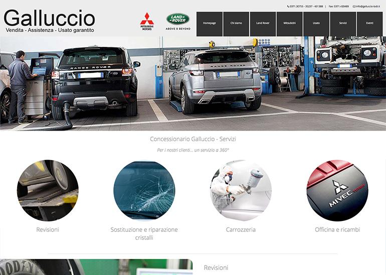 Pagina servizi sito web Galluccio Auto