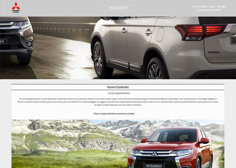 Sito web Galluccio Auto realizzato da Grazioli Design