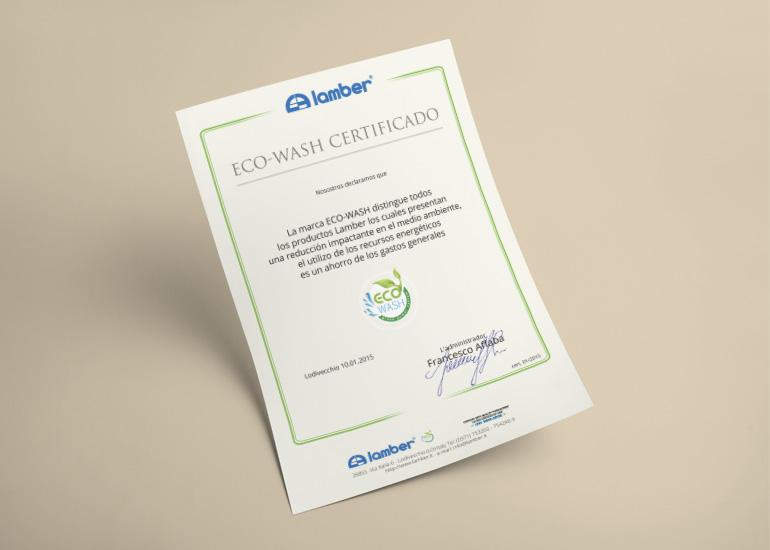 Certificato ambientale realizzato da Grazioli Design