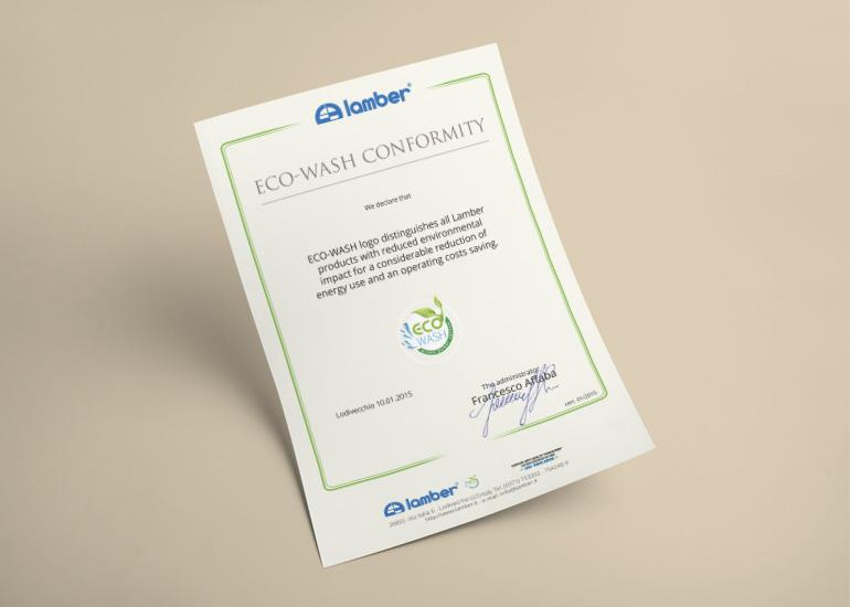 Certificazione eco-wash per Lamber