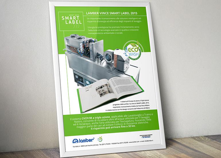 Grafica premio Smart Label per azienda Lamber