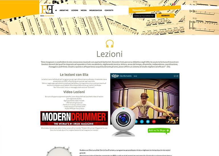 Pagina lezioni sito web Elia Micheletto
