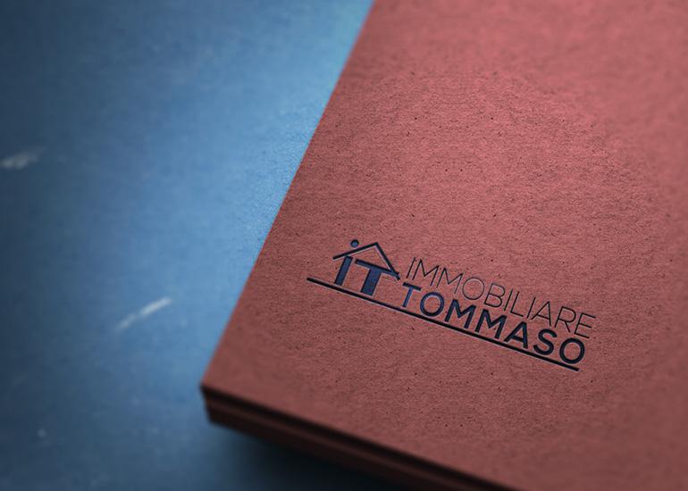 Logo Immobiliare Tommaso creato da Grazioli Design