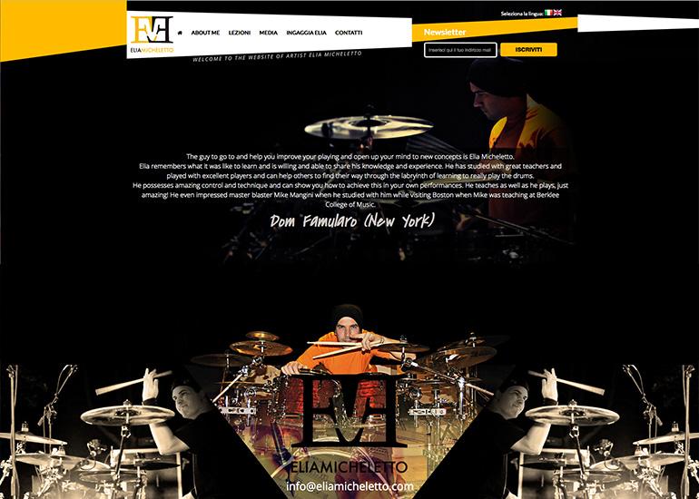 Homepage sito web Elia Micheletto