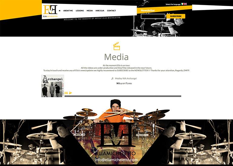 Pagina contatti sito web Elia Micheletto