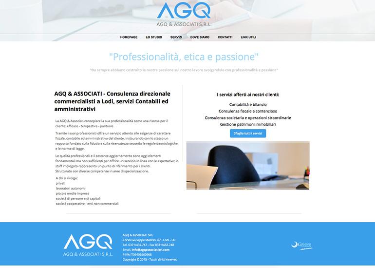 Homepage del sito web AGQ & Associati