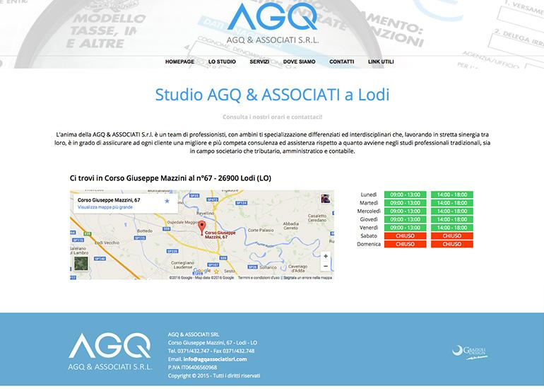 Pagina dove siamo del sito web AGQ & Associati