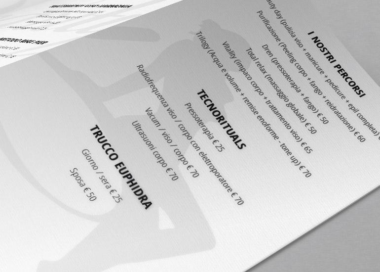 Listino prezzi realizzato da Grazioli Design