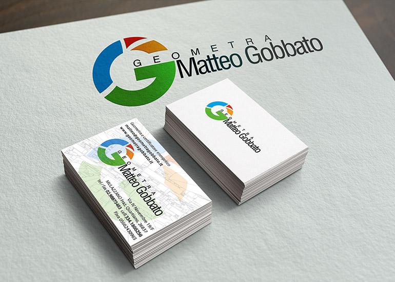 Logo e biglietti da visita geometra Gobbato
