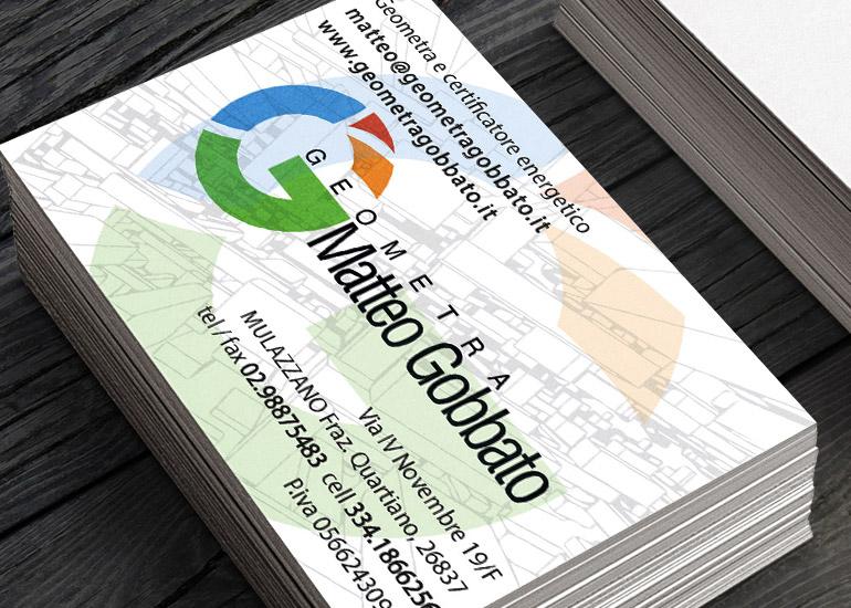 Biglietti da visita realizzati da Grazioli Design