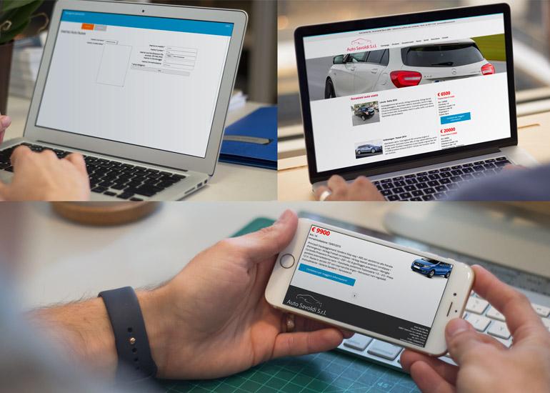 Il sito web della concessionaria Auto Savoldi adattabile a tutti i dispositivi