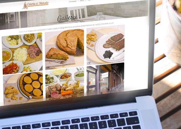 dettaglio sito internet Osteria del Mercato