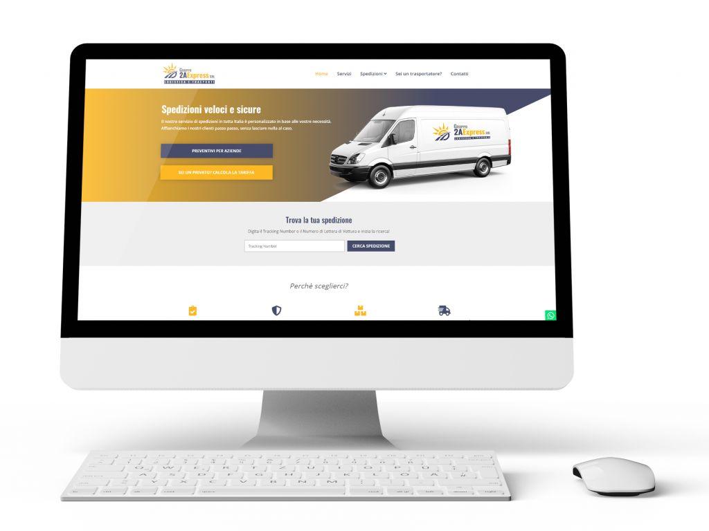 Realizzazione sito web per logistica 2a Express