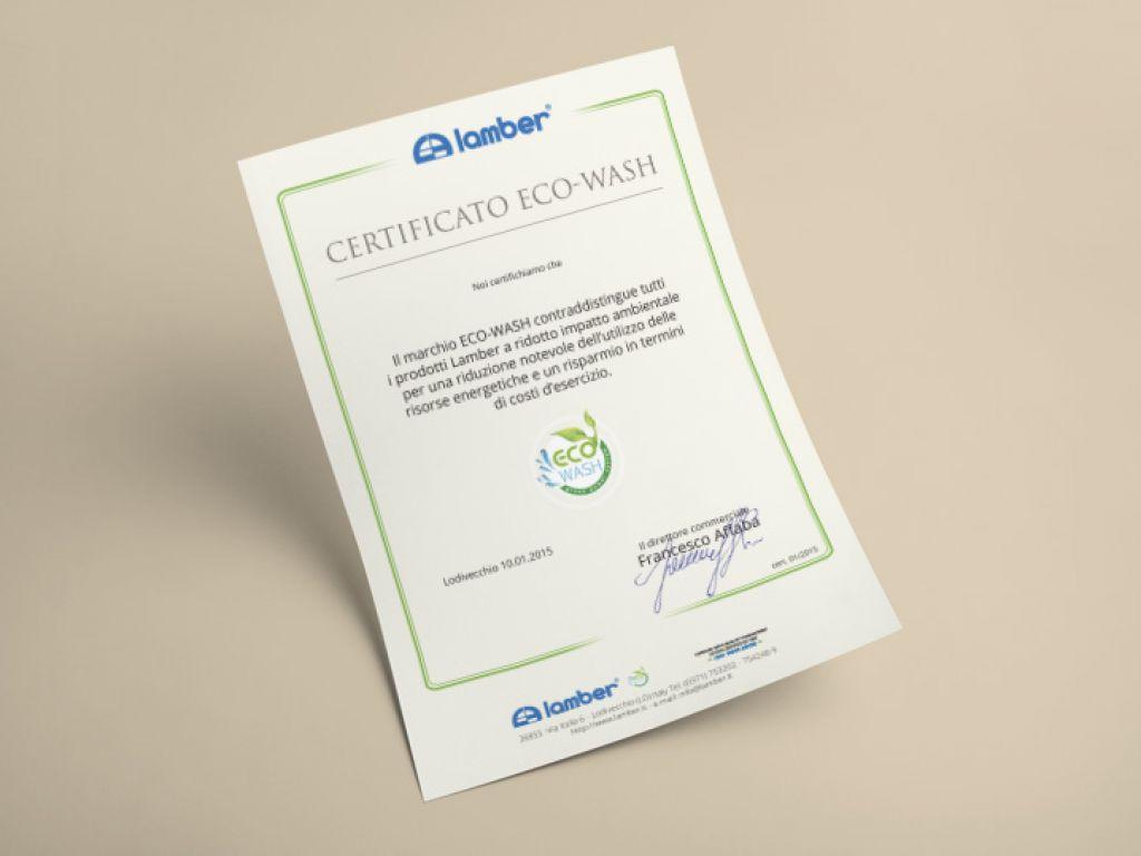 Certificazione per azienda lavastoviglie
