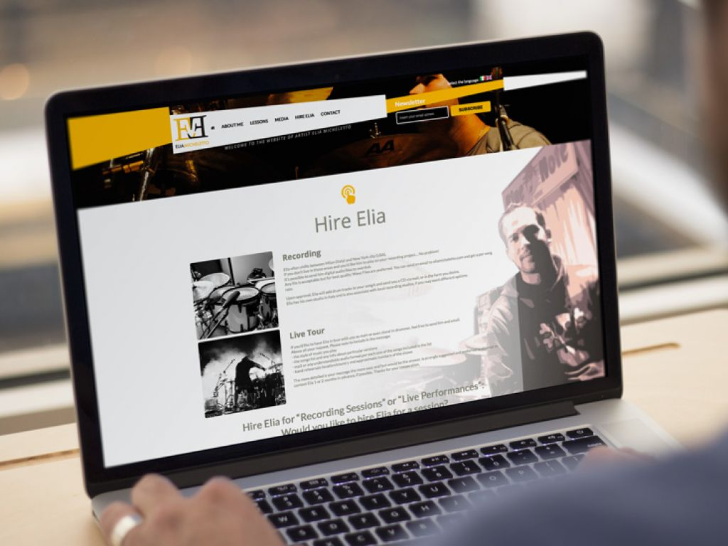 Sito web per musicista