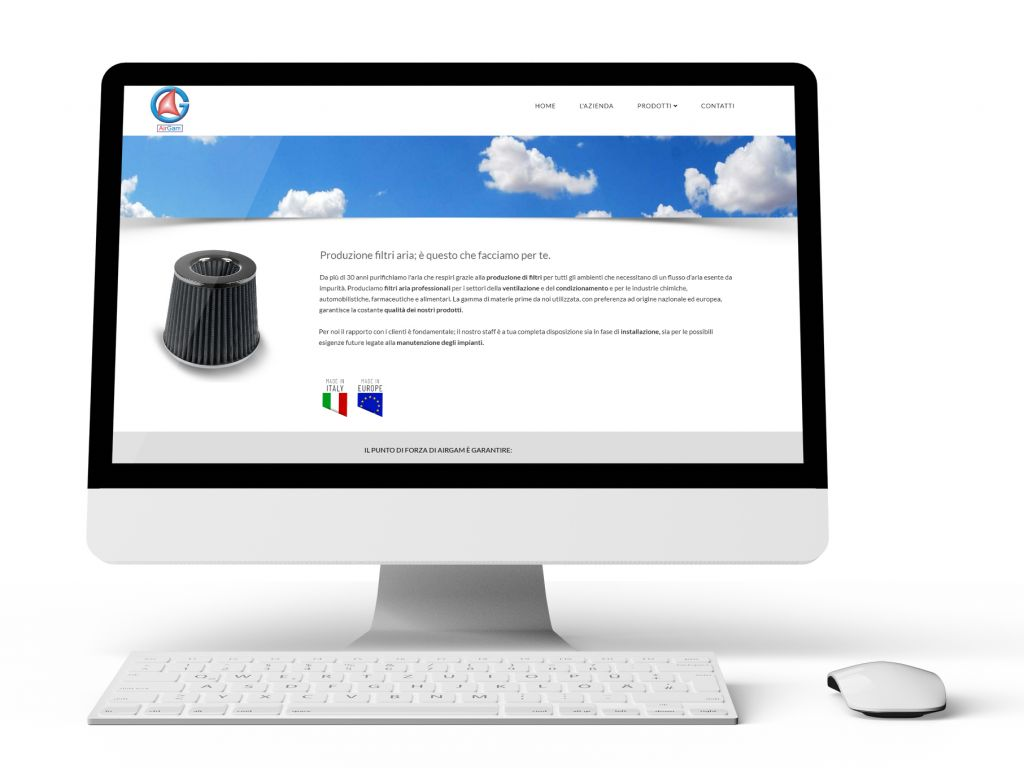 Realizzazione sito web produttore filtri