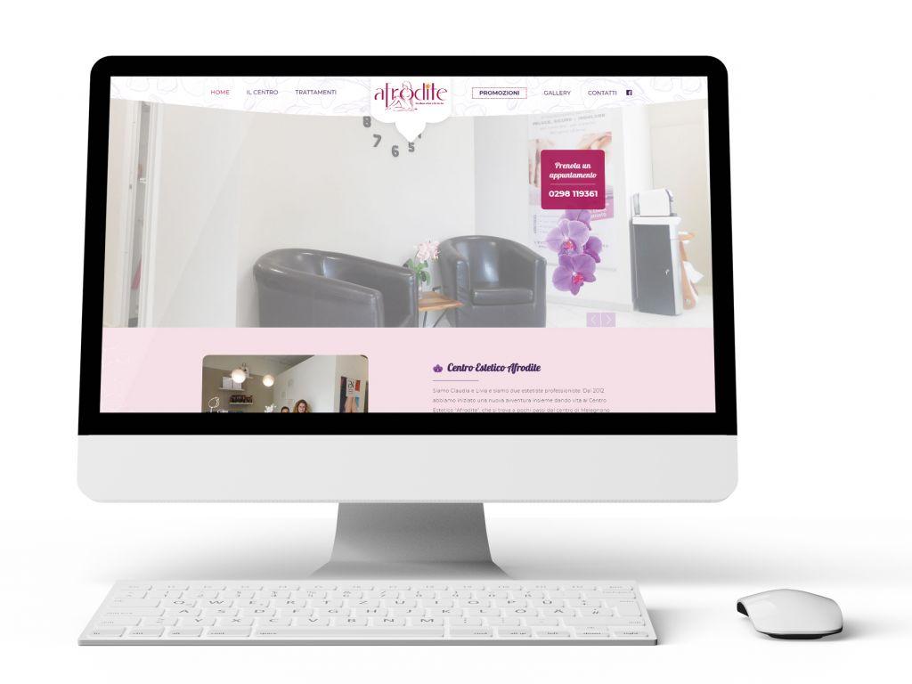 Realizzazione sito web per centro estetico Afrodite