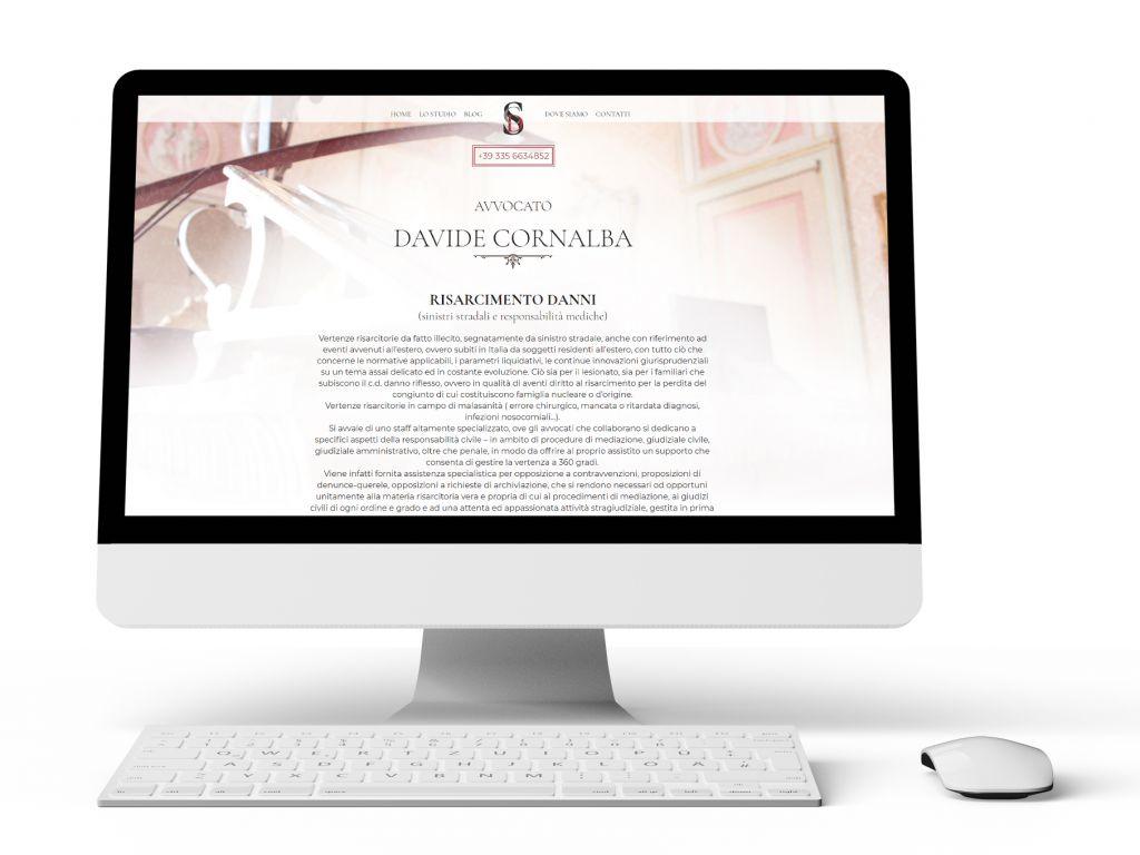Realizzazione sito web Avvocato Davide Cornalba
