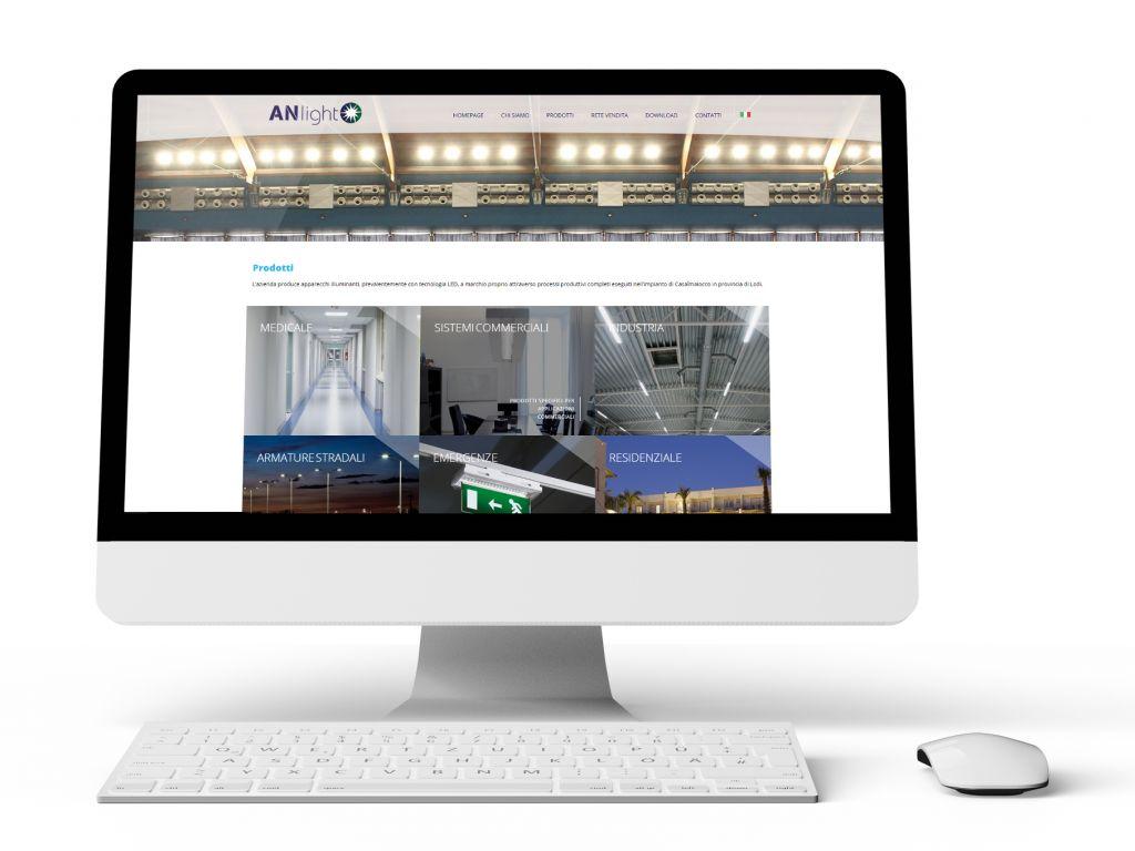 Realizzazione sito web dinamico per AN-LIGHT