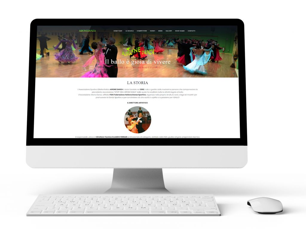 Realizzazione sito web dinamico per una società sportiva