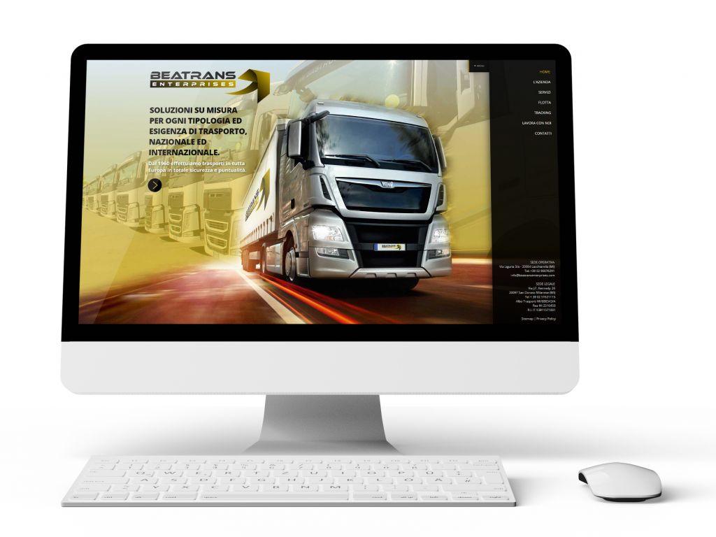 Realizzazione sito web per logistica BEATRANS