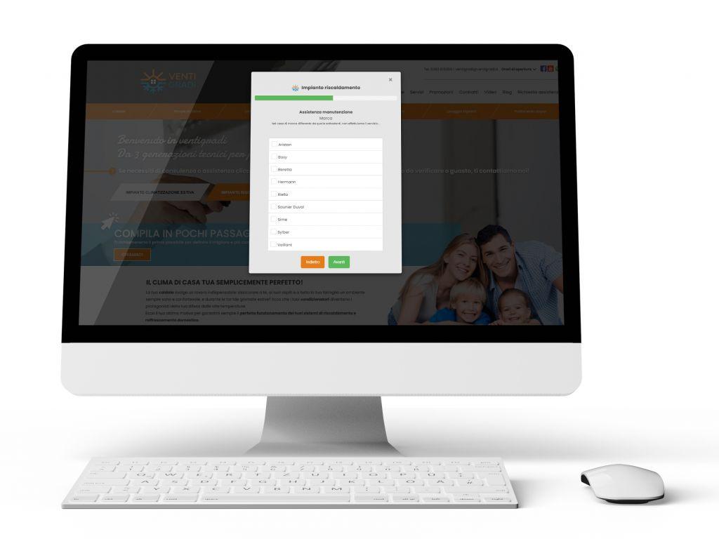 Realizzazione sito web per la lead generation