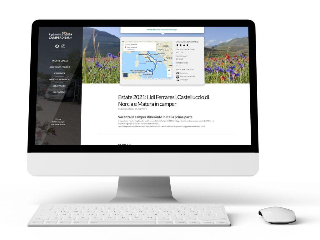 Realizzazione sito web travel blogger