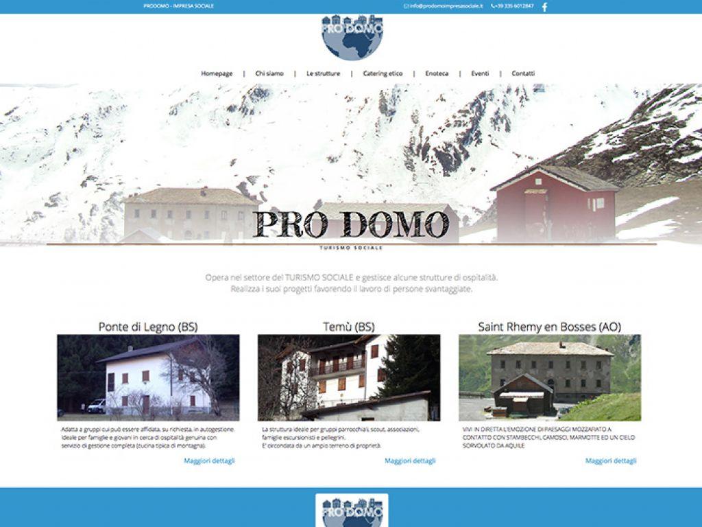 Sito web per azienda di turismo