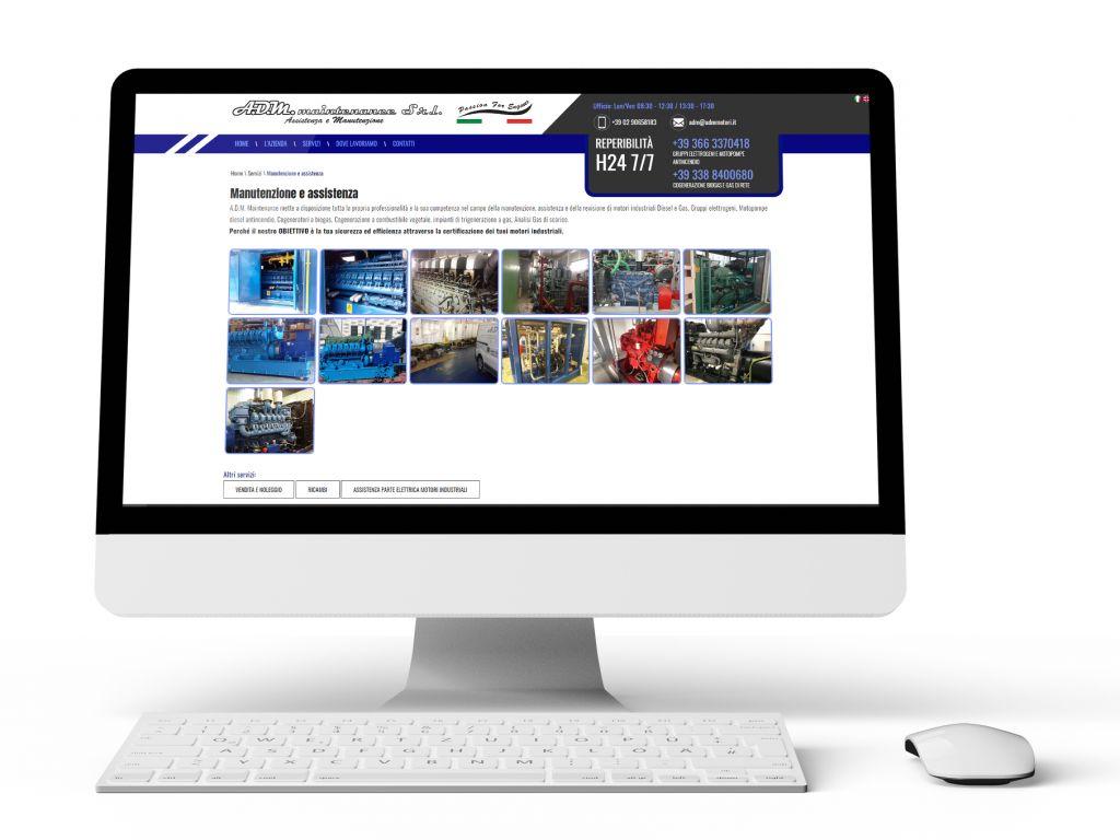 Realizzazione sito web con ottimizzazione SEO - ADM maintenance