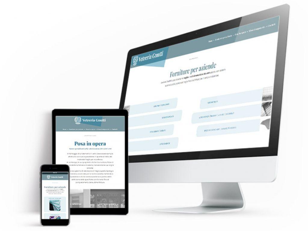 Realizzazione sito web vetreria