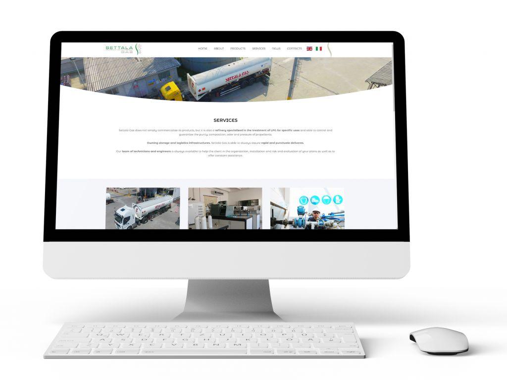 Realizzazione sito web per stabilimento Gas e oleodotti