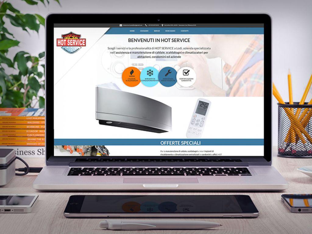 Sito web personalizzato manutenzione caldaie