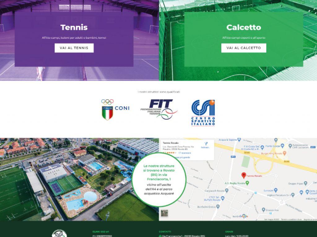 Sviluppo sito web per centro sportivo
